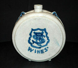 Rare F And S Wines Advertising Gal Blue Grey Whites Utica Stoneware Canteen Ny