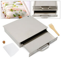 Electric Rice Noodle Roll Steamer Extra Tray Food Rice Roll Maker 1-layer Silver