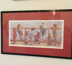Lucelle Raad Rare Boardwalk 11 Lithograph Pencil Signed And Numbered And Framed