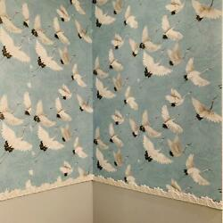 Peel And Stick Wallpaper Crane Bird Baby Blue Wall Furniture Contact Paper 30sq Ft