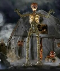 12 Ft Giant Inferno Pumpkin Skeleton W/lcd Eyes Sold Out New Local Pickup Only
