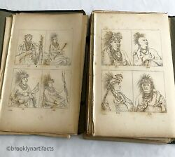 +100 Antique Art Etchings The Native American Indian By George Catlin 1845