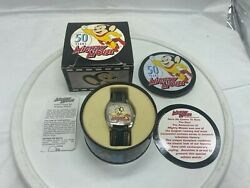 2005 Vintage 50 Years Mighty Mouse Collectible Watch With Tin.