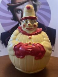 Vintage Clown Toy Weeble Wobble Creepy Scary Face