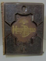 Antique 1881 A.j. Holman Bible Illustrated Great Condition