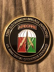 528th Sustainment Brigade Airborne Challenge Coin For Excellence