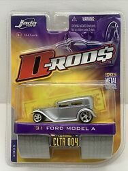 Jada D-rods 31 1931 Ford Model A Silver Rubber Tire Die Cast Car 1/64 Scale 2005