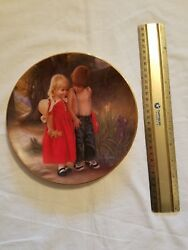 Armstrongs Art On Porcelain - Me And My Friend Decorative Plate 1985
