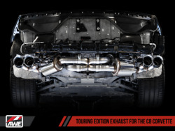Awe Tuning Touring Edition Exhaust 20-21 Fits Chevy Corvette Stingray | Silver T