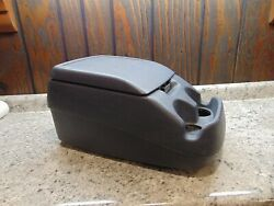 92-96 Ford F150 F250 F350 Bronco Center Console Arm Rest Storage Cup Holder Blue