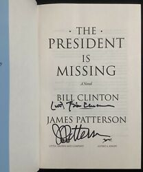 Bill Clinton Signed Book The President Is Missing Auto Psa/dna Wj Inscription