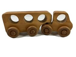 Vintage Wooden Wood Toy Truck Car Handmade S. Neago 1985 Waldorf Natural Play