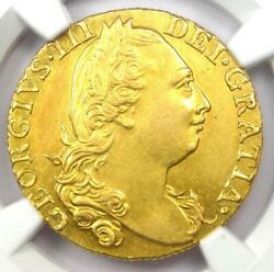 1776 Britain Uk George Iii Gold Guinea Coin 1g - Certified Ngc Au Detail - Rare