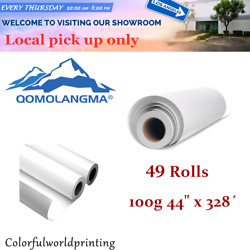 Pick-up 49 Rolls 100g 44 X 328andacute High Tacky / Sticky Sublimation Transfer Paper