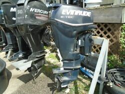 2010 Evinrude Etec 30hp 20 Outboard Motor Fuel Injected