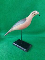 Carved Wooden Hunting Waterfowl Duck Dove Decoy Signed Capt Harry Jobes  A