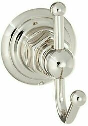 Rohl Rot 7pn Country Bath Single Hook Robe Hook In Polished Nickel Finish, Nib