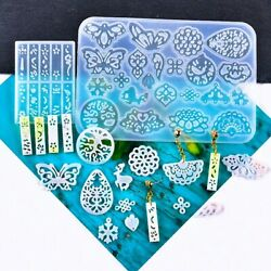 Silicone Resin Mold Keychain Jewelry Epoxy Making Casting Earring Pendant B572