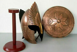 Medeival Lord Of The Rings Helmet With Shield Costume Medieval Knight Crusader