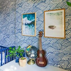 Peel And Stick Wallpaper Ocean Waves Wall Furniture Sticker Contact Paper 30 Sq Ft