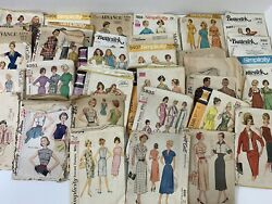 Vintage Mccalls Simplicity Sewing Patterns Lot Of 34 Women's Dresses 50's 60's