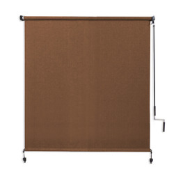Coolaroo Outdoor Roller Sun Shade Wand Operated 90 Uv Block 4and039 X 6and039