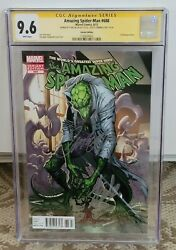 Amazing Spider-man 688 Cgc 9.6 Variant Ss Stan Lee And J. Scott Campbell Rare