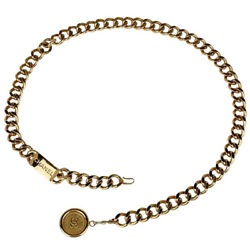 Coco Mark Chain Belt Cc Coin Gp Gold Women And039s Secondhand Msp _8242