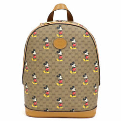 Disney Backpack Mickey Mouse Print Software Mini Gg Canvas _99345
