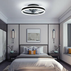 20 Ceiling Fan With/ Led Light And Remote Semi Flush Mount Brown/silver/black