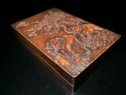 Antique Chinese Hand Carving Elephant Songhua Ink Stone Ink Slab Marked
