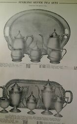 Sterling Silver Tea Coffee Sets 1931 Catalog Page Krower New Orleans Rare 440
