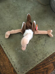 Rare Vintage Ty Beanie Baby Stretch The Ostrich Retired 1997 ☆☆errors☆☆