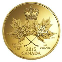 2015 200 Canada Royal Canadian Mint 1 Oz Pure Gold Coin - A Historic Reign