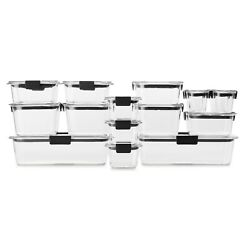 Rubbermaid Brilliance Leakproof Food Storage Containers, 36 Piece Set