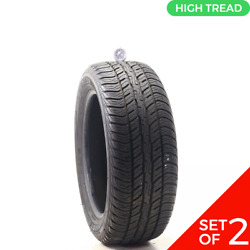 Set Of 2 Used 235/55r18 Dunlop Conquest Touring 104v - 8.5-9/32