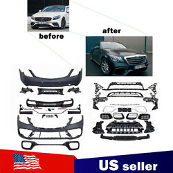 Mercedes Benz W222 S Class Amg Style 2018-2021 Front Bumper Body Kit S500 S63 65
