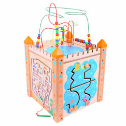 Santoys Wooden Large Educational Activity Cube Kids Learn Play Centre