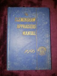 Vintage 1956 Edition Cleminshaw Appraisers Manual - Hardcover