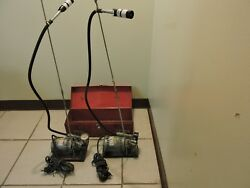 Two Air Sampling Pumps In A Metal Box And Accessories