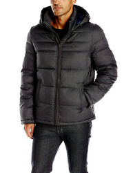 Classic Hooded Puffer Jacket Black 156an122