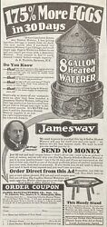 1929 Adxh2james Mfg. Co. Ft. Atkinson, Wis. Jamesway 8 Gallon Heated Waterer