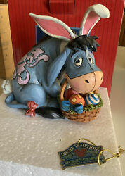 Eeyore Cottontail Jim Shore, Disney Traditions 6001284 Blue Easter Bunny- New