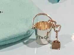 And Co. Blue Pail With Shovel Sand Bucket Sterling Silver Charm New W/ Box