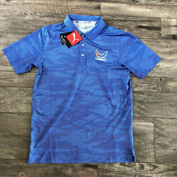 Nwt Polyester Polo Volition America Menand039s S Msrp 75 Dry Cell Blue Usa