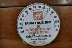 Vintage Farm Fans Inc Sales And Service 12andrdquo Round Thermometer Amboy Minnesota