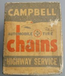 Vintage Campbell Tire Snow Chains, 1250 Type P Never Used
