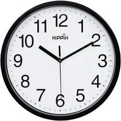 Modern Wall Clock Silent Non ticking Battery Operated 10quot; Round Clock Home