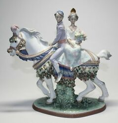 Lladro 1472 Valencian Couple On Horse Limited Artist Signed