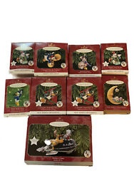Lot Of 9 Hallmark Vintage Mickey Mouse And Co. Christmas Ornaments